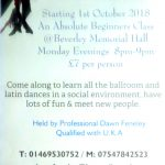 Ballroom & Latin Dance - Absolute Beginners Class