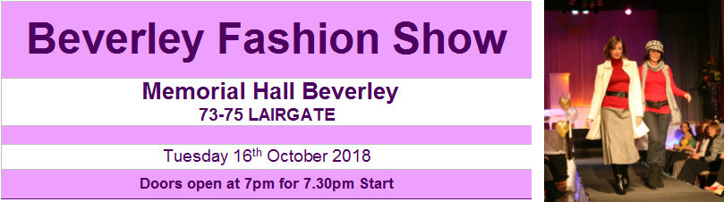 Fashion Show, Memorial Hall Beverley, 16th October 2018