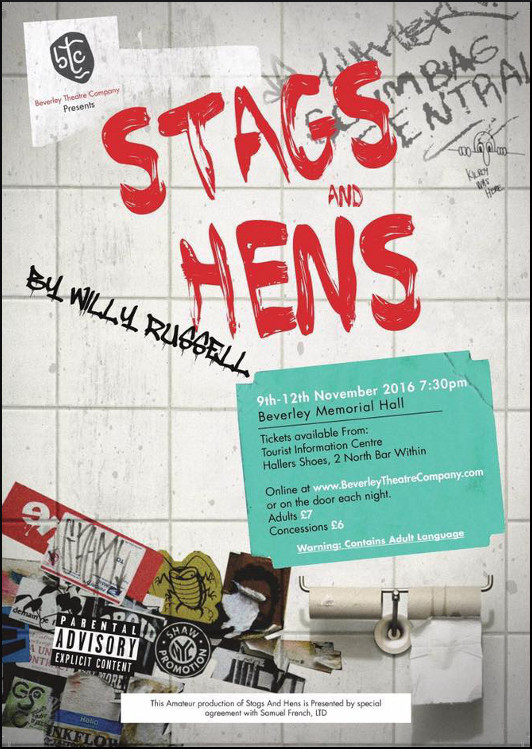 Stags & Hens a comedy play in Beverley, East Riding of Yorkshire.