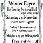 Crafters, Homemade baking, Refreshments