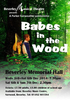 babes-in-the-wood pantomime poster 2015