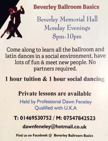 Ballroom & Latin Dancing lessons