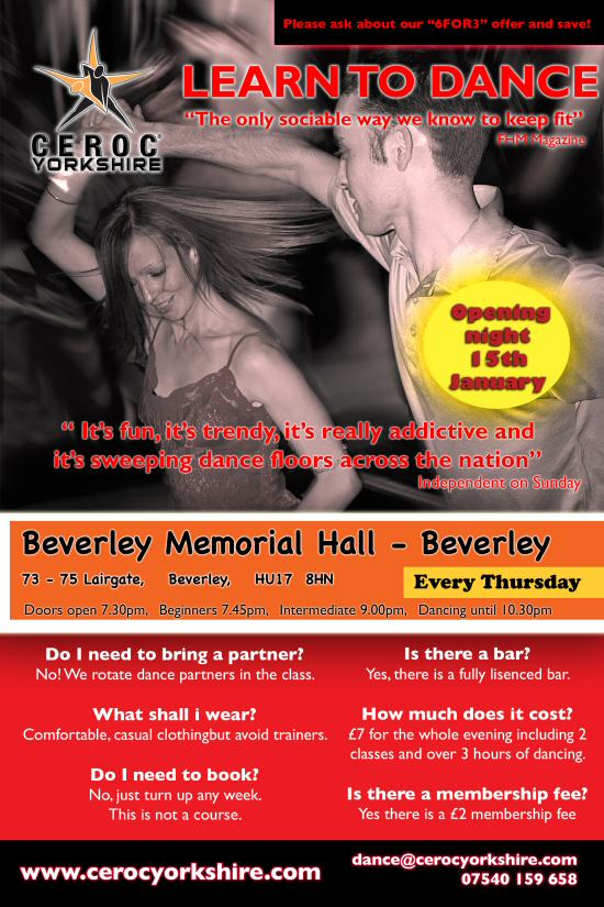 Dance Lessons and Dancing in Beverley, East Yorkshire