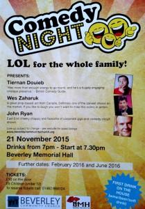 Comedy Night, November 2015