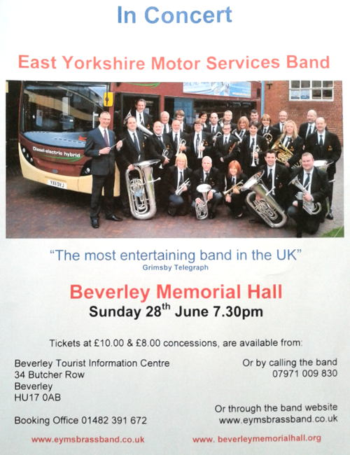 East Yorkshire Motor Services Brass band