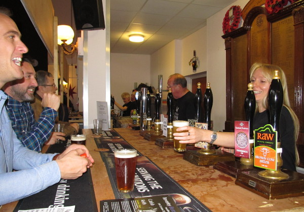Happy Atmosphere at Beverley Beer Festival.