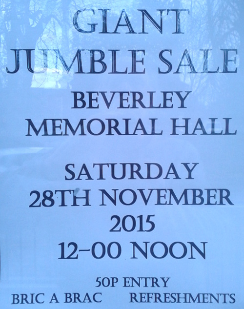 Jumble Sale for Beverley Musical Theatre