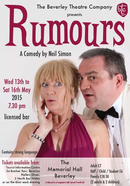 Rumours, comedy theatre