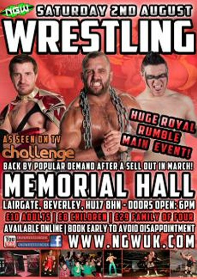 Wrestling in East Yorkshire - august 2014