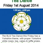 Yorkshire Day-tea dance in Beverley